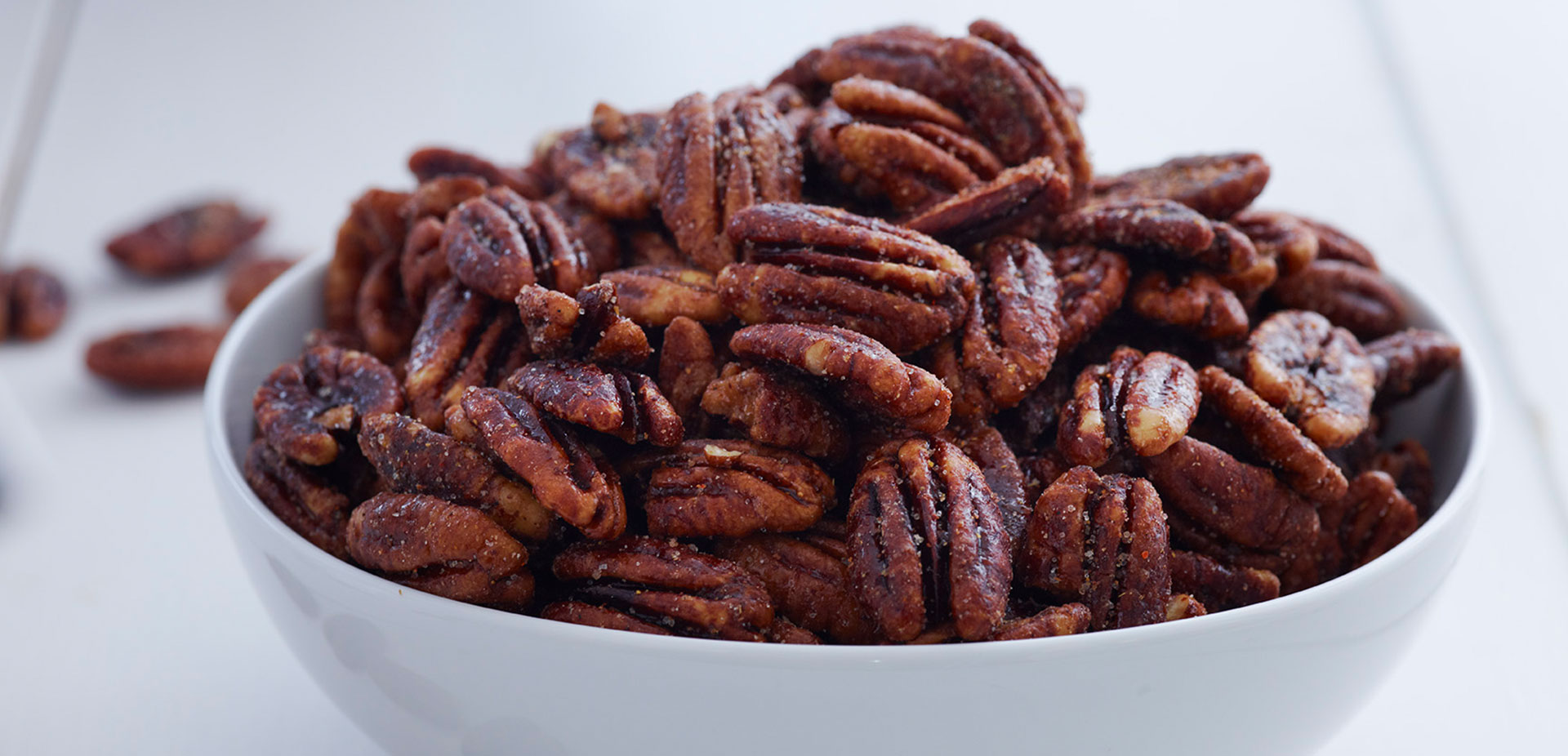 Sweet & Spicy Glazed Pecans