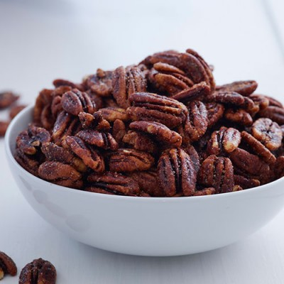 Sweet and Spicy Glazed Pecans - 8 oz. Gift Tin